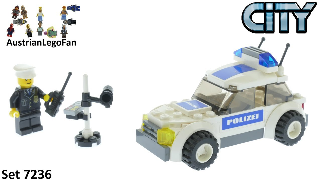 Lego City 7236 Police Car Lego Speed Build Review Youtube