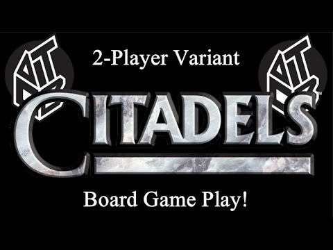Citadels - Two Player Variant - Board Game Play