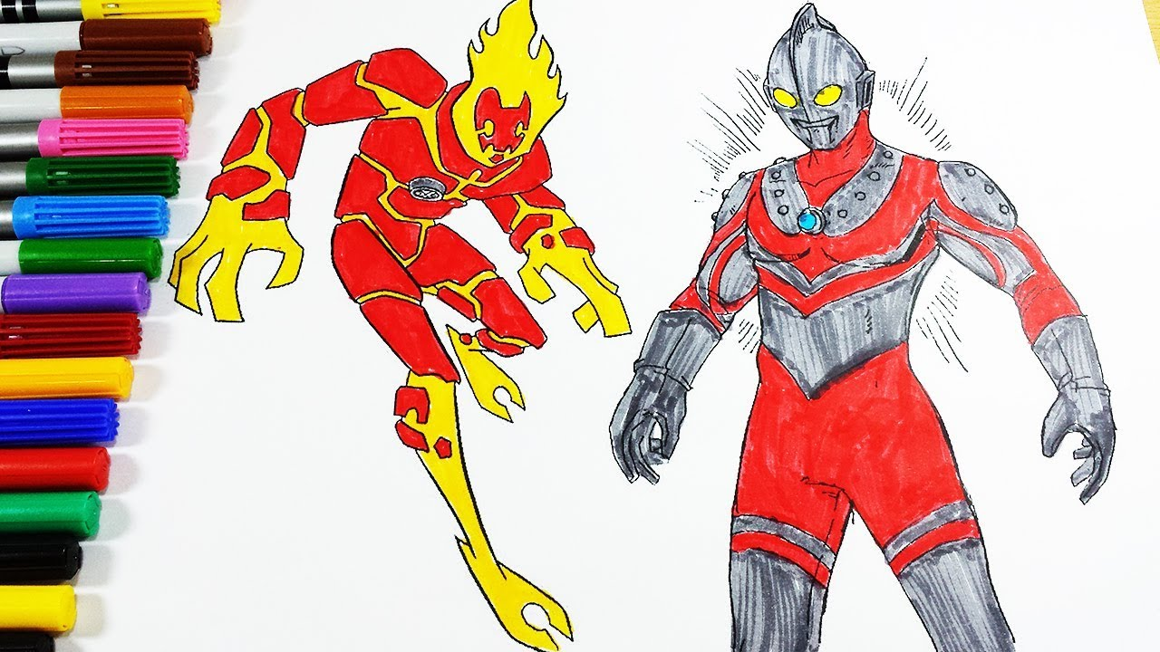 Coloring Pages Ben 10 Fire Blast Ultraman Zoffy Coloring