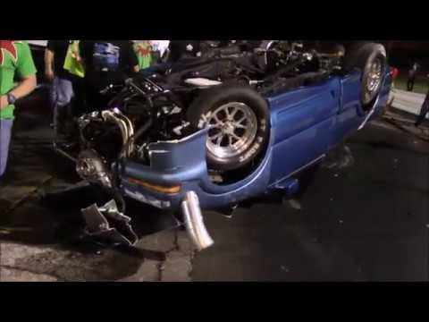 The Sonoma vs Vicktoria truck insane wreck at the Winter Meltdown Race