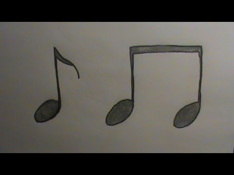 How To Draw Music Notes Youtube
