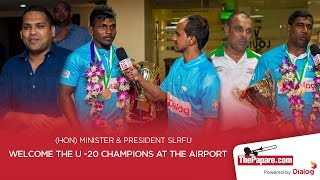 U20 Champions receive warm welcome