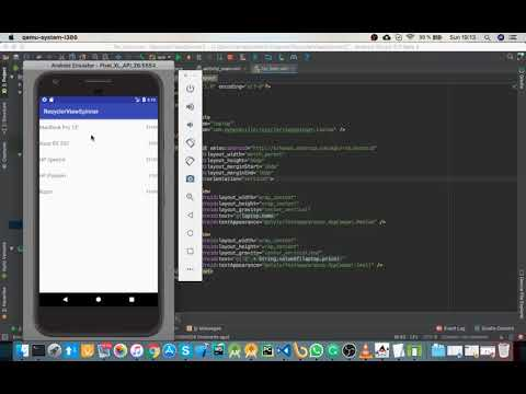 Android RecyclerView With Spinner Sort