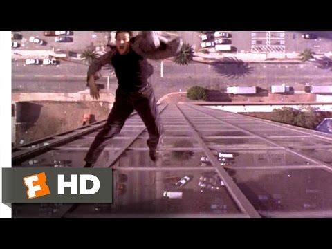Crossworlds (1997) - Shoved Off a Skyscraper Scene (5/10) | Movieclips