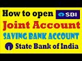 How to fill Joint account opening form of SBI Saving Bank in Hindi