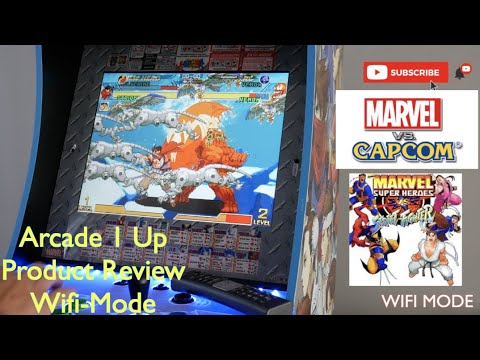 Arcade1Up - Marvel vs Capcom Arcade Cabinet Console / Product Review / WIFI MODE DEMO from ken viet le