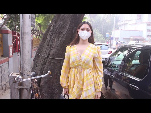 Exclusive Tamanna Bhatia Snapped Post Lunch With Friends Bandra