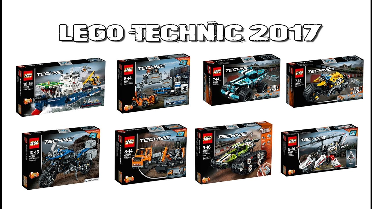 lego technic 2017 sets youtube. Black Bedroom Furniture Sets. Home Design Ideas