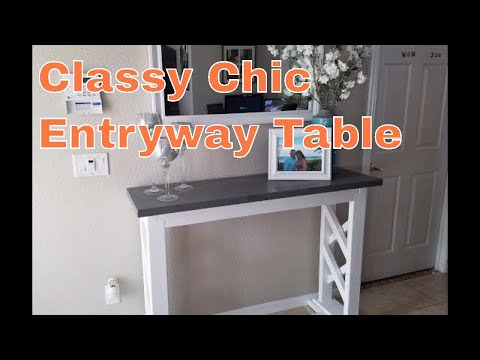 Build a rustic farmhouse entryway table / sofa table / console table