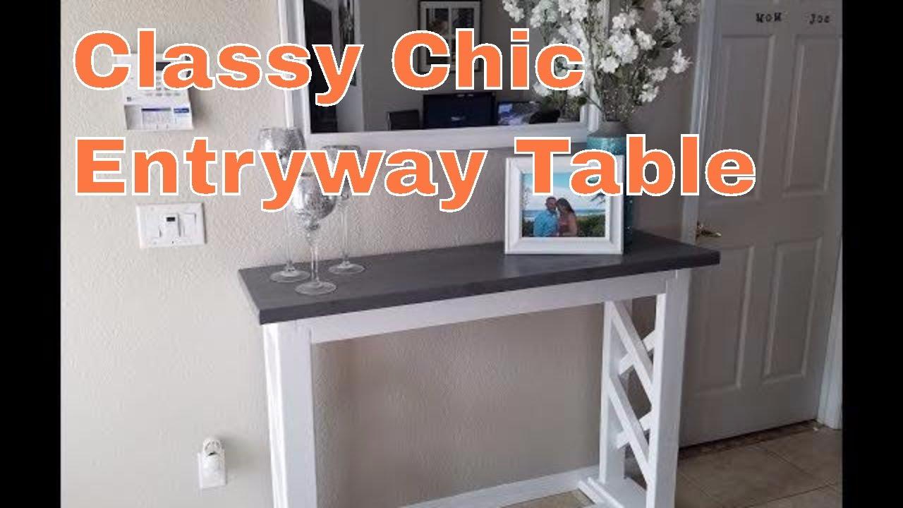 Build A Rustic Farmhouse Entryway Table Sofa Console