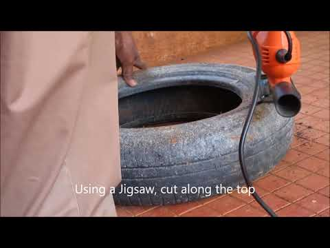 How To Cut Old Tyres