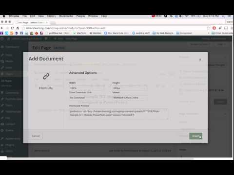 How to update and embed powerpoint files in wordpress