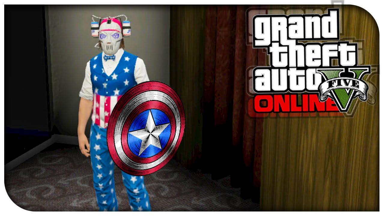 GTA 5 Online - FASHION FRIDAY! (Captain America The Joker u0026 Elvis) [GTA V Cool Outifts] - YouTube