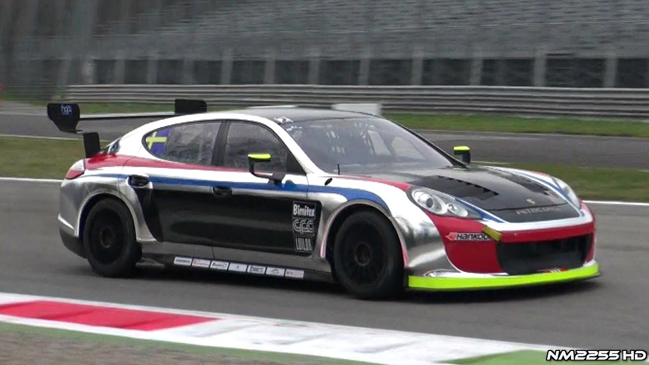 LOUD Porsche Panamera Race Car Sound on Track! - YouTube