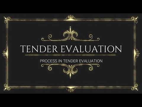 TENDER EVALUATION PROCESS