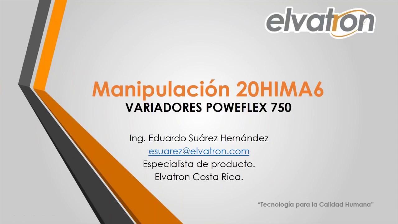 PowerFlex 753: Demostración del uso de la pantalla 20-HIM-A6