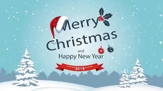 MERRY CHRISTMAS NEW YEAR 2019 Happiness to every home HD футаж скачать бесплатно free download
