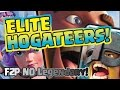 CLASH ROYALE - F2P NO Legendary 3 Crown Deck!! - Elite 3 Hogateers
