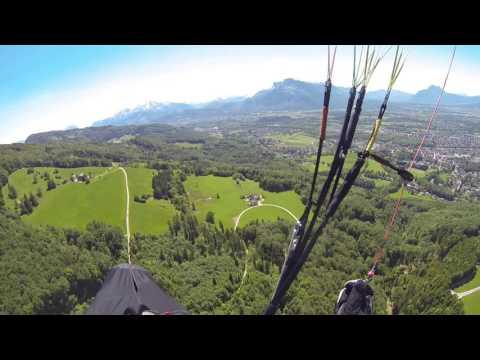 Austria salzburg yamaçparaşütü  uçuşum
