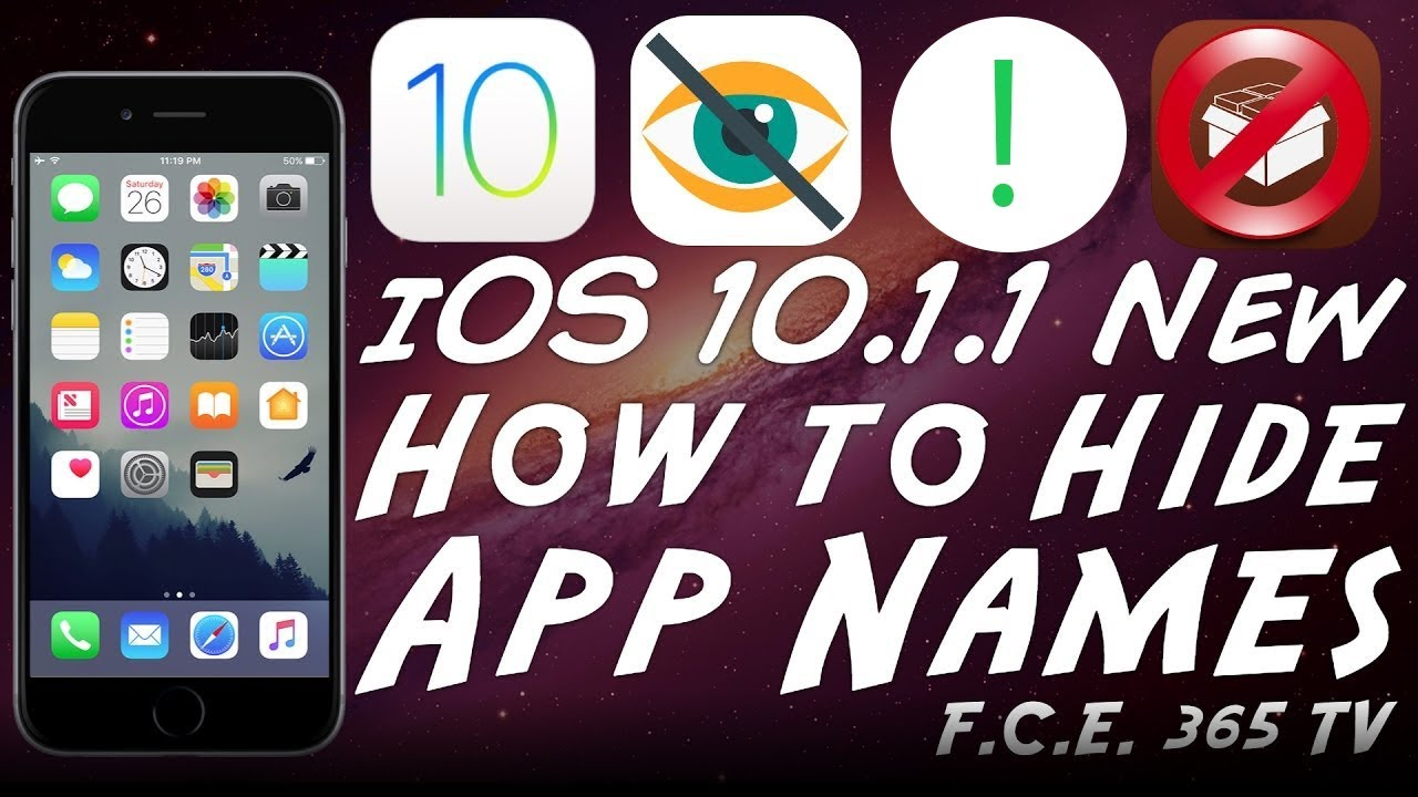 iOS 11 - How To Hide Application Names (Labels) [No Jailbreak]