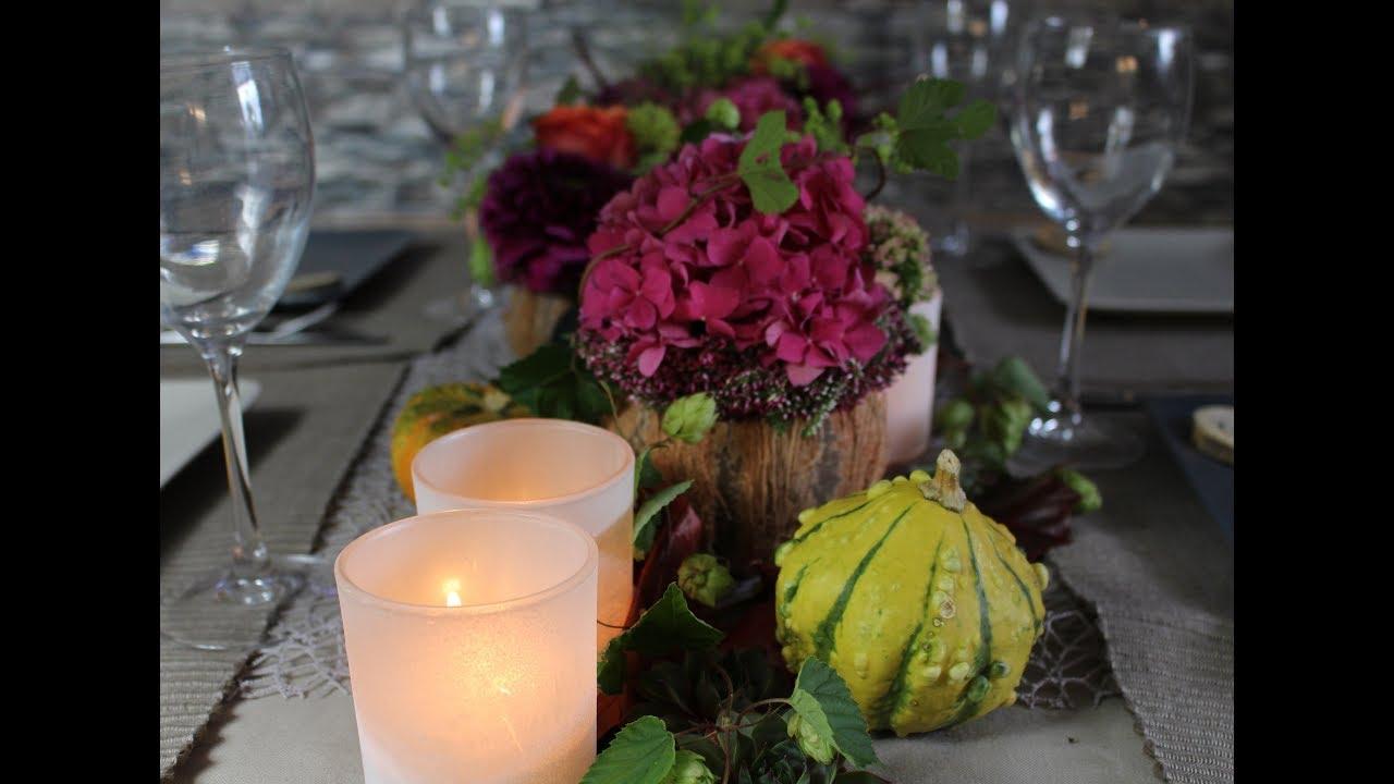 Herbst Tischdeko Dinner Cookingflower Youtube