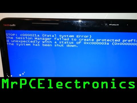 "c000021a {Fatal System Error} ""Fix"""