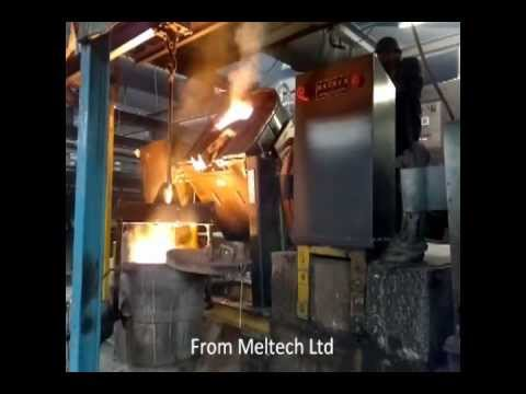 Induction furnace at Newby Foundry.wmv