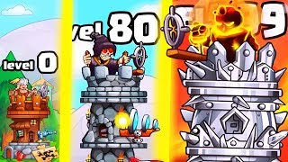 IS THIS THE HIGHEST LEVEL TALLEST TOWER EVOLUTION? (9999+ STRONGEST UPGRADE) l Tower Crush