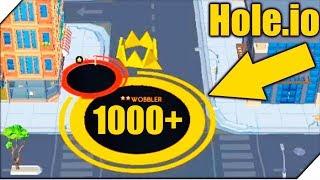 МОЯ ДЫРКА БОЛЬШЕ ВСЕХ - Игра Hole io рекорд. Новая io Игра hole.io
