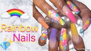 rainbow nails videos