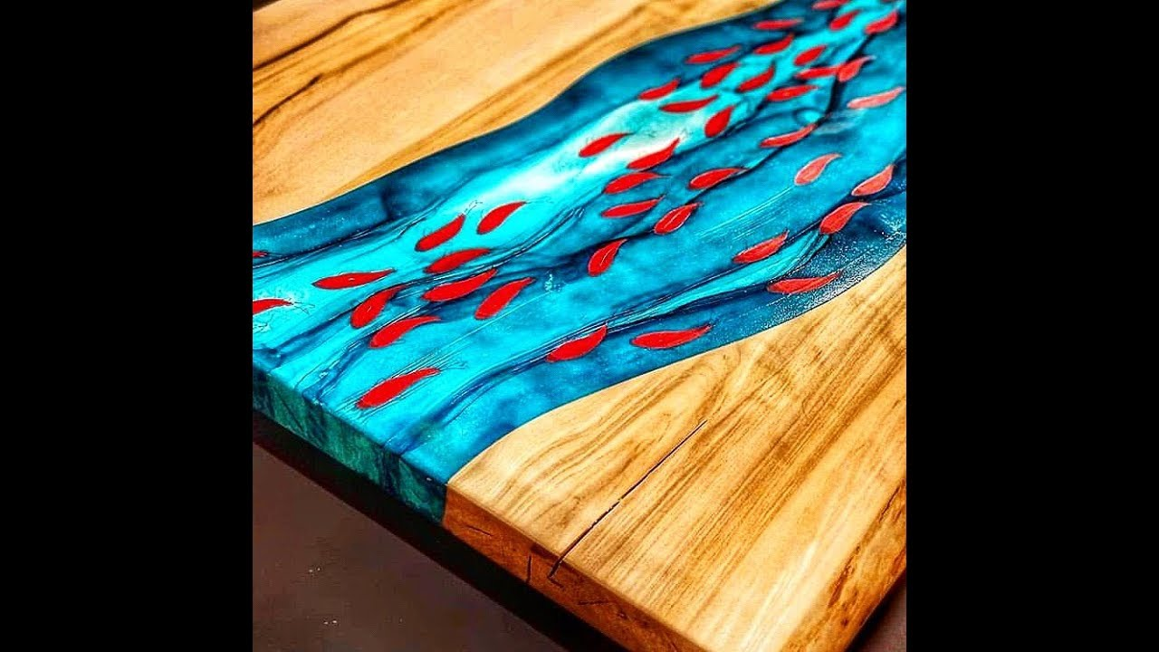 10 Amazing Epoxy Resin And Wood River Table Designs Diy