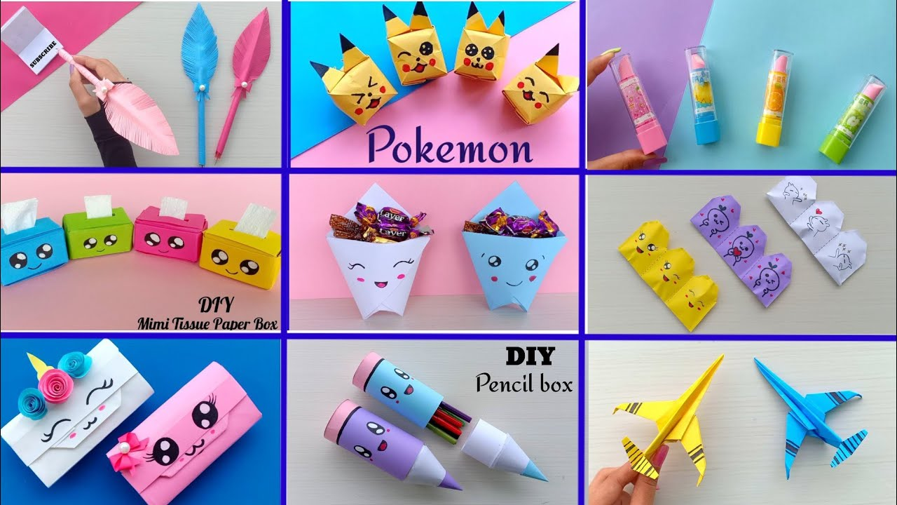 11 Easy Craft Ideas School Craft Idea Diy Craft School Hacks Origami Craft Paper Mini Gift Idea Youtube