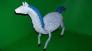 Модульное оригами лошадь (конь) видео урок-схема, пошаговая инструкция
