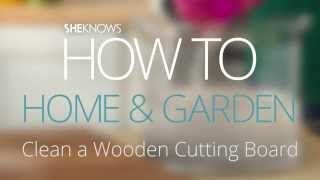 Clean A Wooden Cutting Board