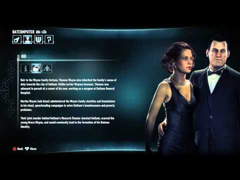 Batman: Arkham Knight - Character Bio Information & Attributes: Thomas & Martha Wayne Details PS4