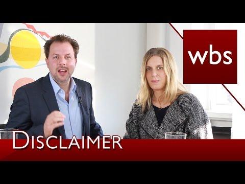 Was bringen Disclaimer im Impressum? | Kanzlei WBS im Interview mit Ricarda Nieswandt