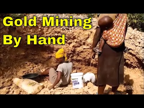 Kenya Miners Part 2: Crushing, grinding the ore, and sluicing gold the traditional African way