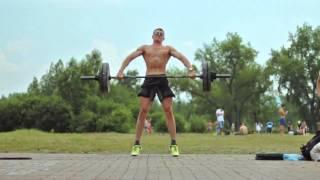 Squat Snatch 187 lb. slow motion | Рывок в сед 85 кг