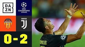 Rot! Cristiano Ronaldo fliegt und weint: Valencia - Juventus Turin 0:2   UEFA CL   DAZN Highlights