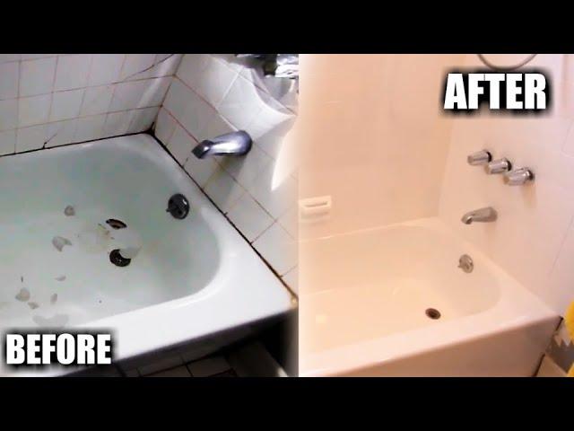how to reglaze a bathtub tile step
