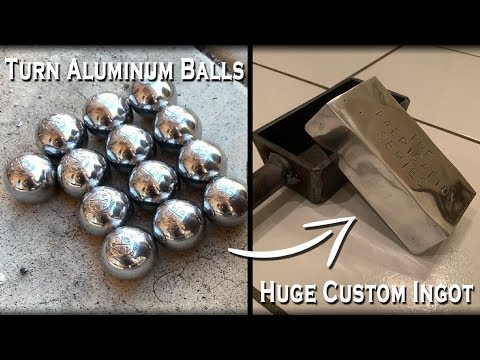 Fabricating Custom Molds And Casting HUGE Aluminum Ingots - Melting Metal Balls