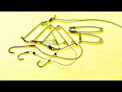 Auto Hooks From Safety Pins - DIY Fishing Tackle - Автоматический крюк - Bẫy Ghim Băng