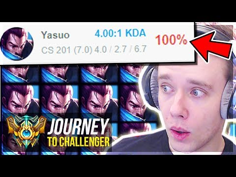 UNLEASHING MY 100% WIN RATE YASUO!!!!!!!!! - Journey To Challenger | League of Legends