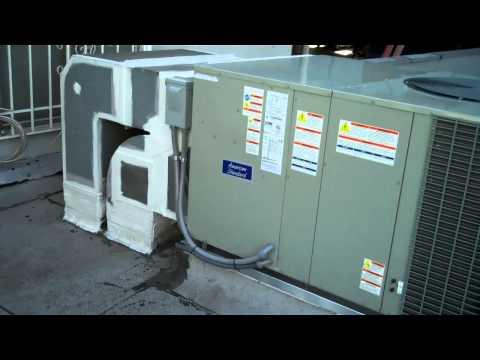 ***American Standard 5 Ton Heat Pump In Heating Mode With Bonus Footage***