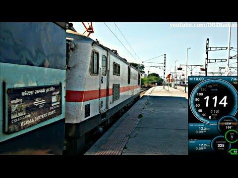 CHANDIGARH to NEW-DELHI Train Journey Part-2 !! High speed Run