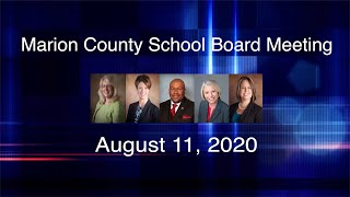 Marion County School Board Meeting, August 11, 2020