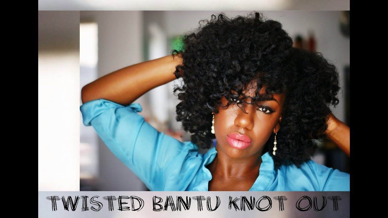 Twisted Bantu Knot Out Results Youtube