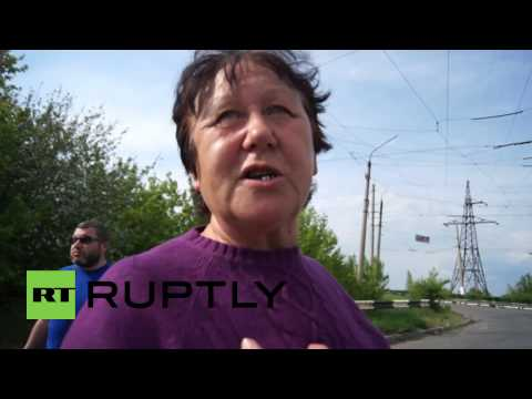 "Ukraine: Slavyansk local says Ukrainian army has ""no conscience"""