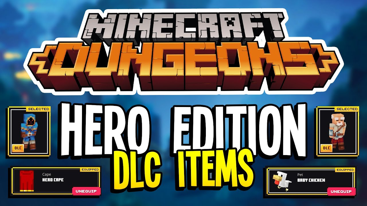 Minecraft Dungeons Hero Edition Where To Find Skins Hero Cape