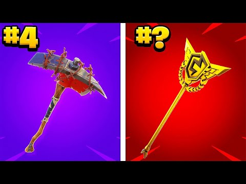 Top 10 RAREST Pickaxes In Fortnite Chapter 2!